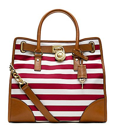 Michael Kors Striped Hamilton Tote Dillards