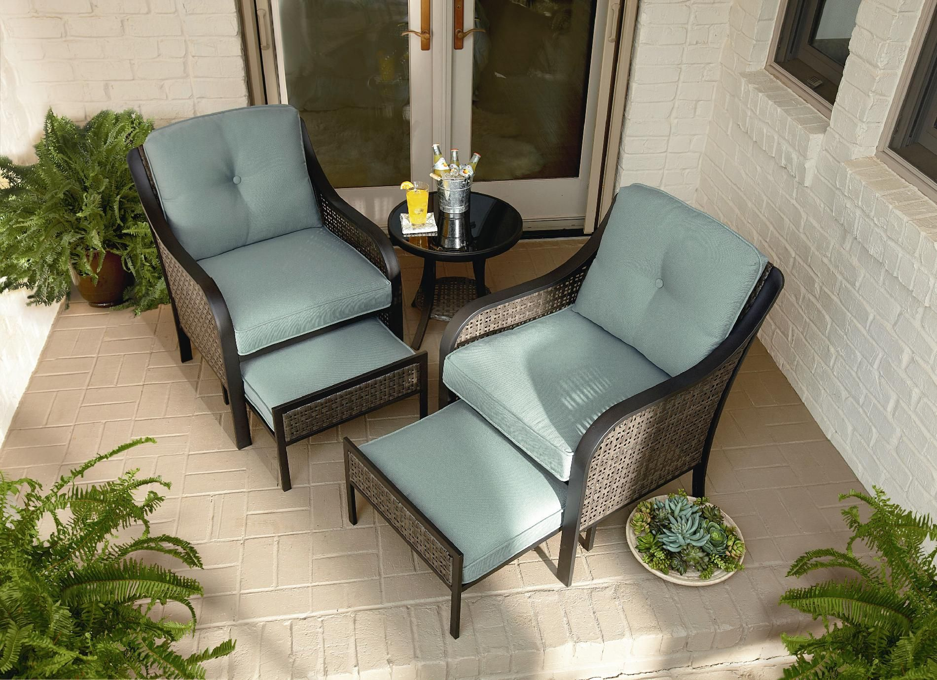 Garden Oasis Nichols 8pc Mixed Media Seating With Pull Out