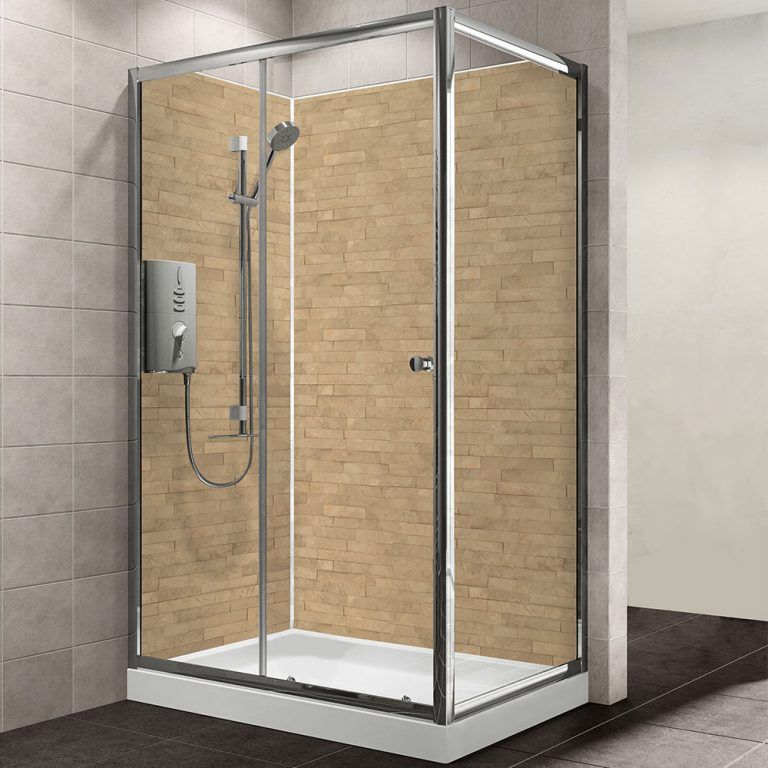 Photo of MB XL Slate Brown Bathroom Shower Panel 1200mm x 2400mm – MB DIY