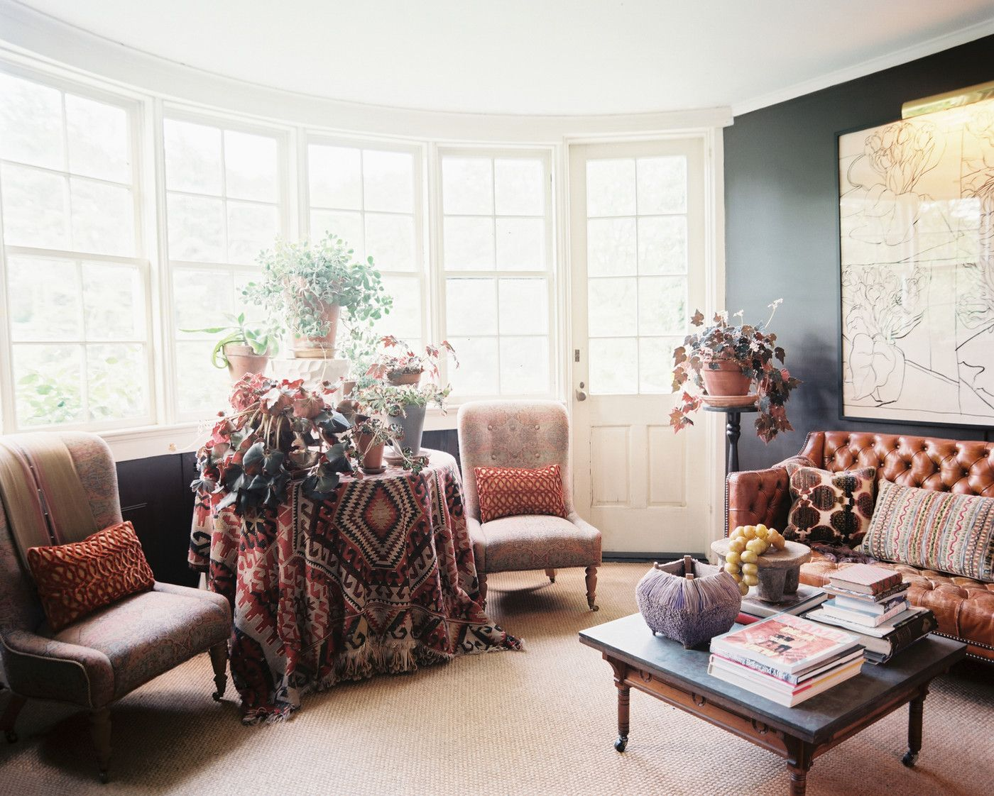 Classy Bohemian Style Living Room Designs Collection : Elegant ...