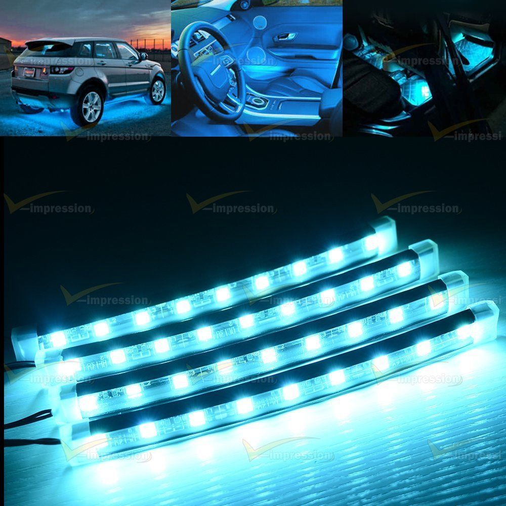 Automotive Led Light Strips Interesting 12X Multicolor Rgb 18 Colors Led Light Strip Kit Universal Review