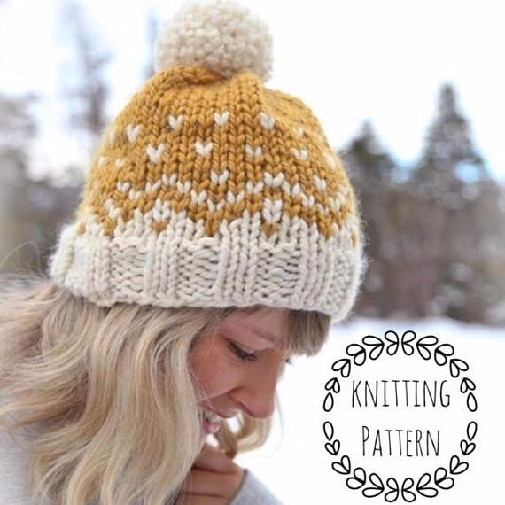 Knitting Pattern Only To Knit A Mountain Toque Sizes Baby Ages 1