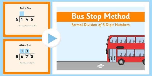 Formal Division 3 Digit Numbers Bus Stop Method Powerpoint Division For Kids Bus Stop Division Math For Kids Short division worksheet twinkl