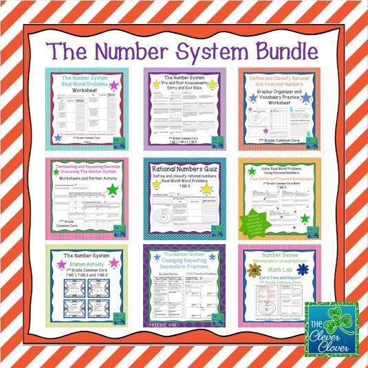 The Number System Bundle 7th Grade Md School Stuff Etc Math