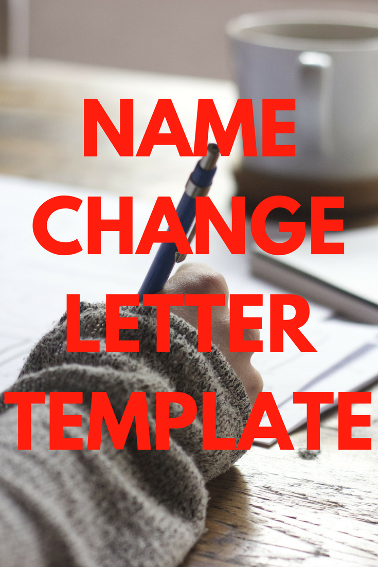 Letter for Change of Name After Marriage Template