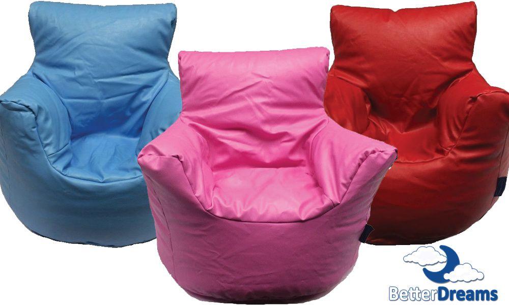 Brilliant Details About Funzee Faux Leather Kids Childrens Bean Bag Unemploymentrelief Wooden Chair Designs For Living Room Unemploymentrelieforg