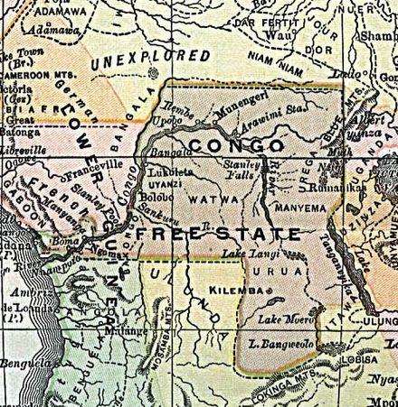Kongo Freistaat Belgisch 1892 Freistaat Coburg Sachsen