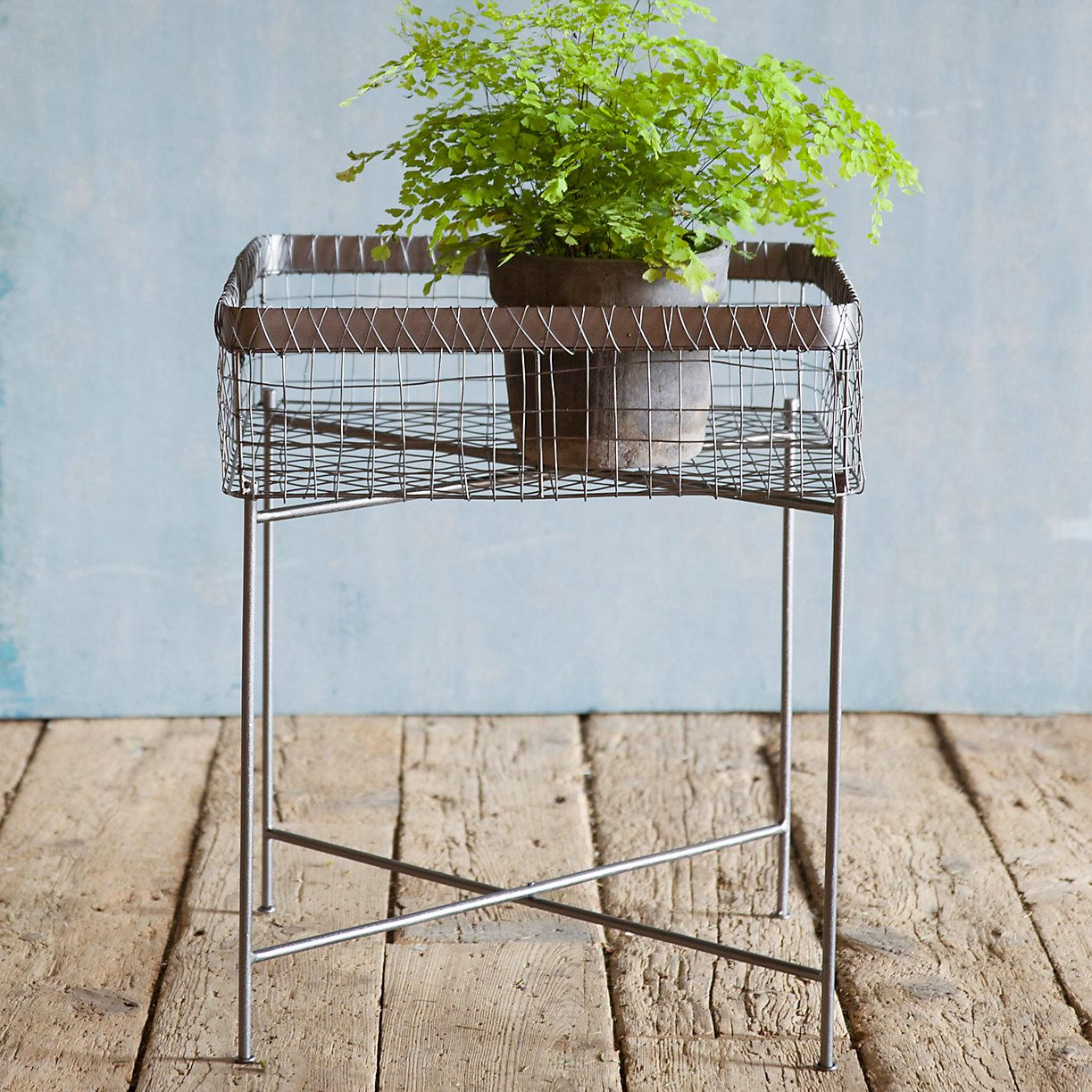 Side Table Plant Stand   Plants, Iron and Patios