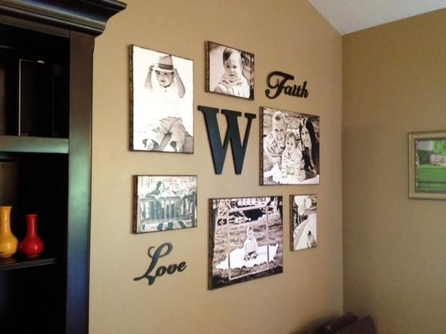Modpodge Canvas Photo Collage Love This Idea Might Just Do For My Entry Wall