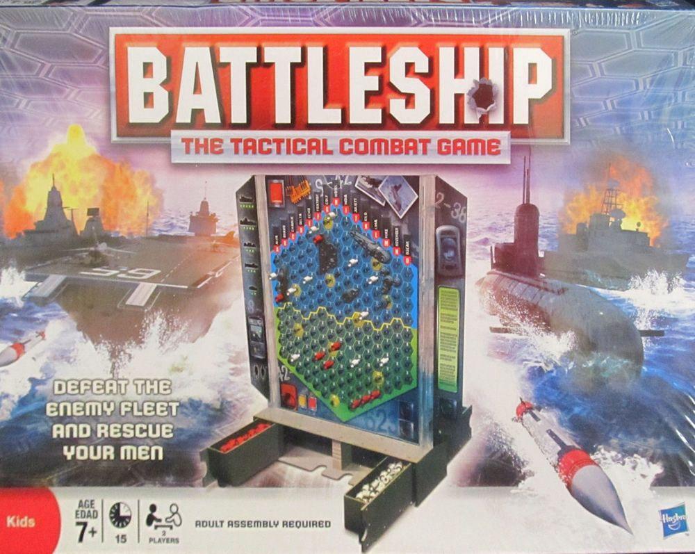 Battleship Board Game Hasbro MB 2 Players Kids 7+ 2008
