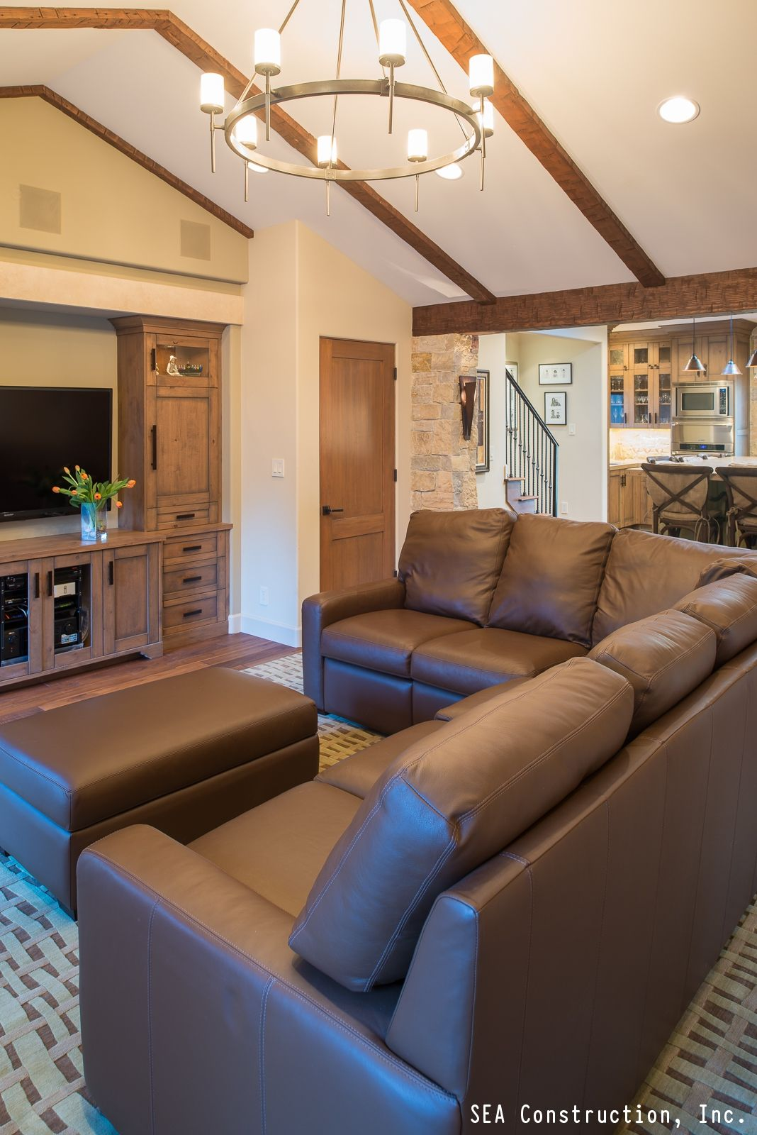 Adding a focal point to your living room such as a