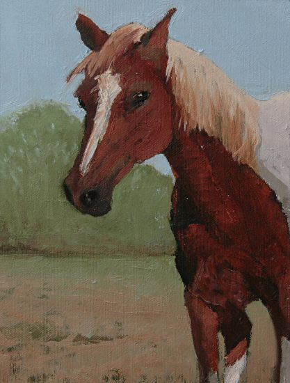 Spirit Being Curious by Susan Fowler Oil ~ 8 x 6