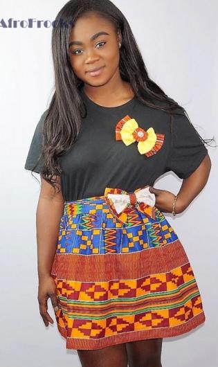 2b21a0a11 Mini kente bowtie detail skirt | With Love I... | Skirts, Printed ...