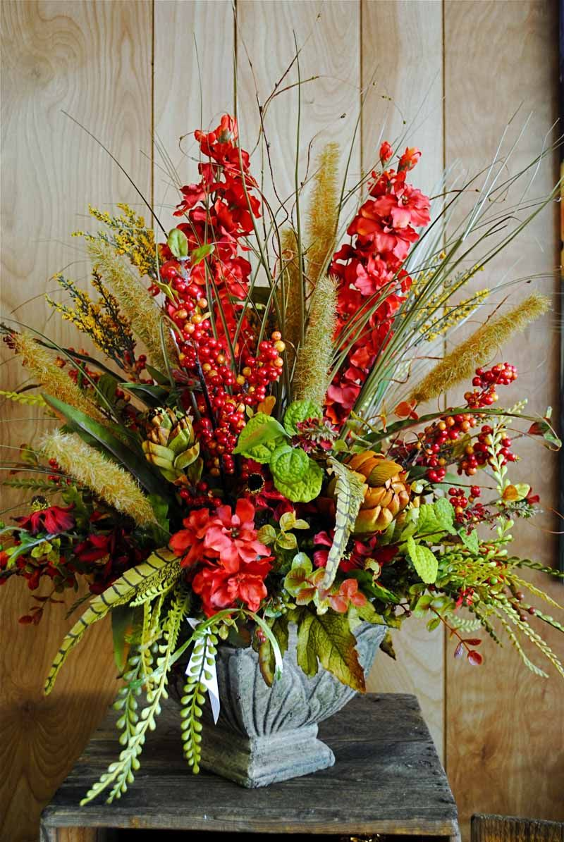 Fall Silk Floral Arangements Fall Silk Arrangements Are In Bloom