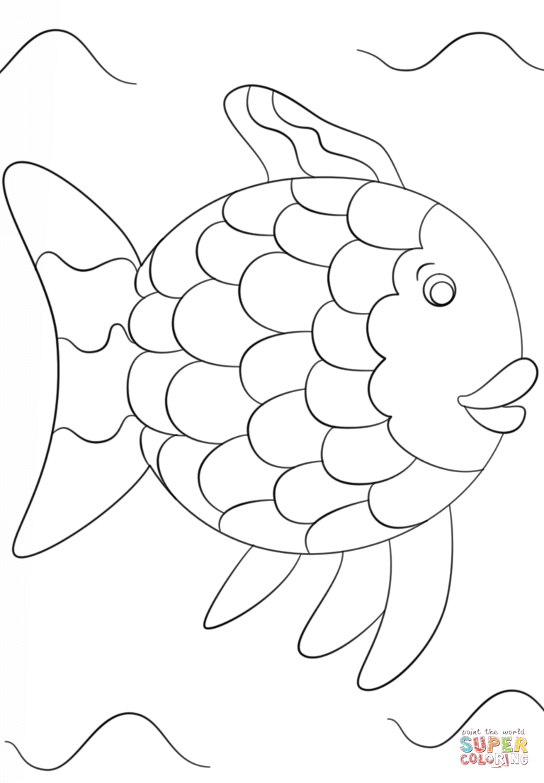 Rainbow Fish Template Coloring Page Free Printable Coloring Pages Rainbow Fish Template Fish Template Rainbow Fish