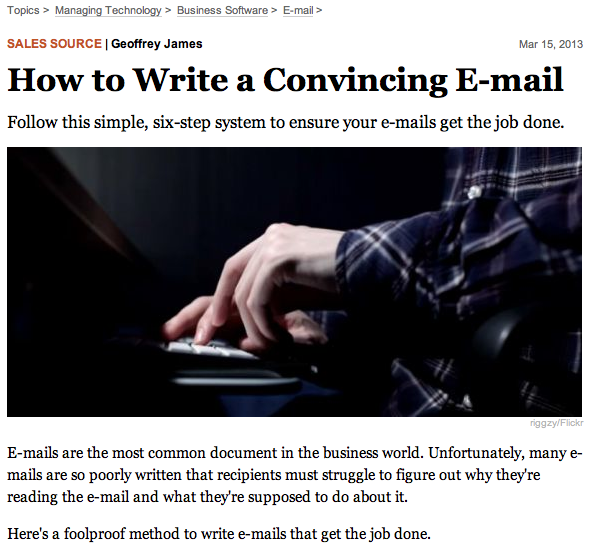 Ho to write a convincing email