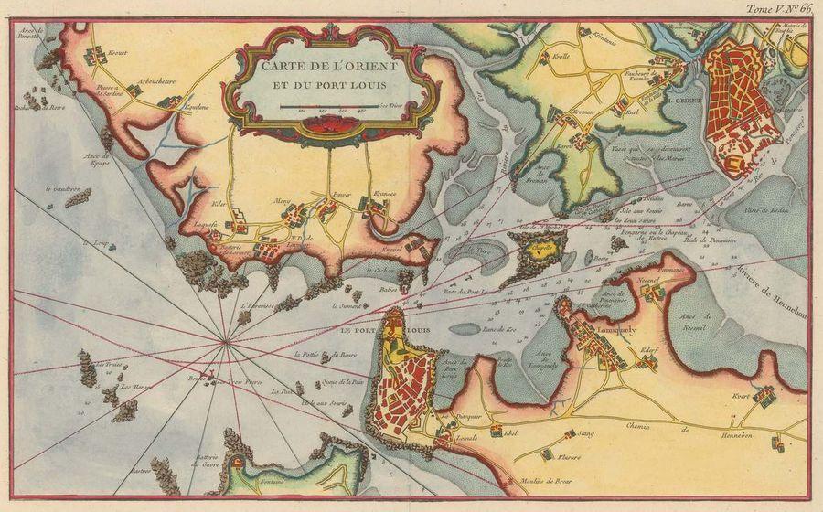 Carte De L Orient Et Du Port Louis 1764 Carte Cartes