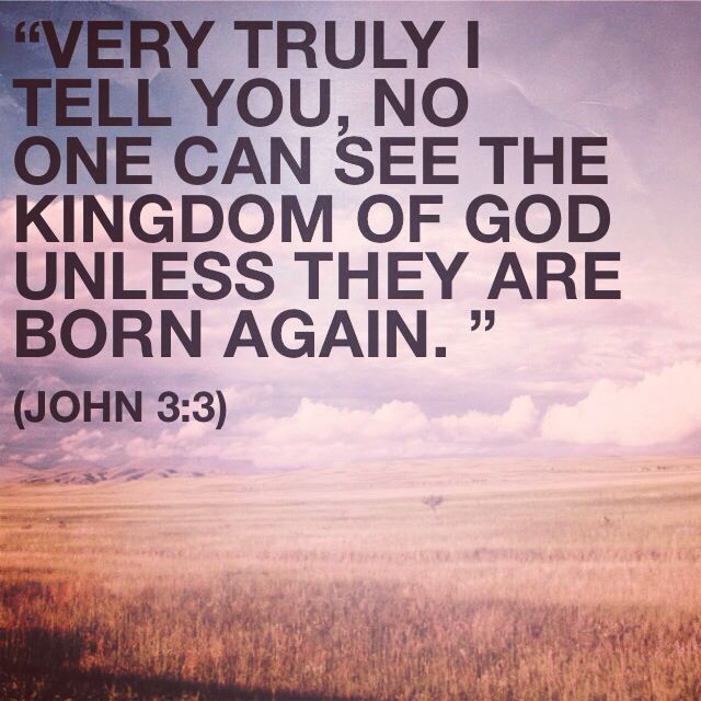 """Jesus replied, """"Very truly I tell you, no one can see the kingdom of God  unless they are born again. """" """"How … 
