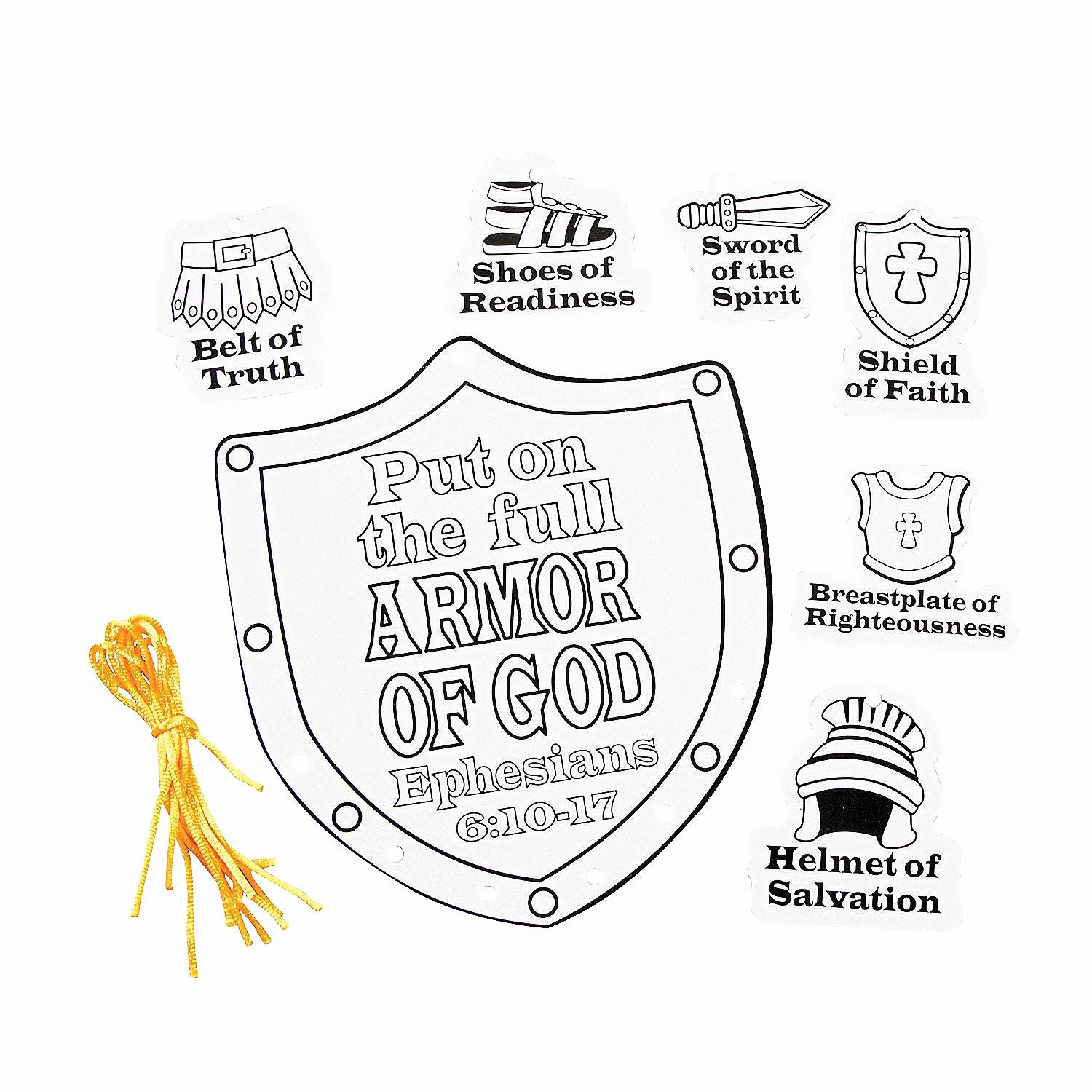 Armor of God Coloring Page – Children's Ministry Deals   1500x1500