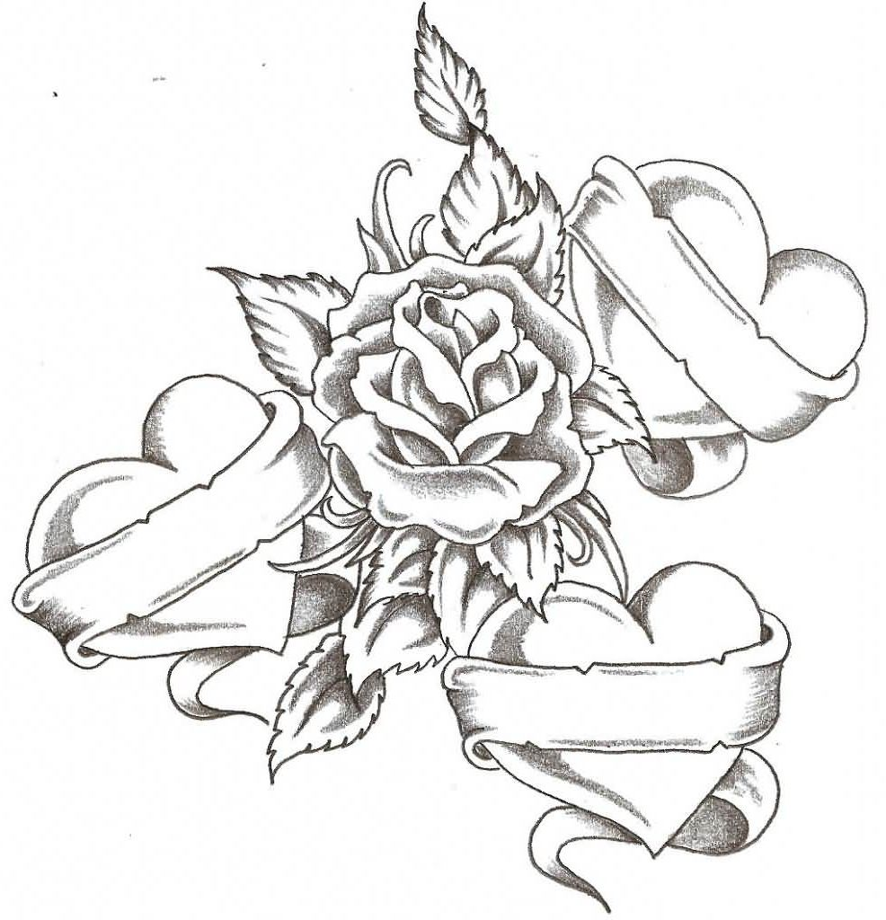 Tattoo Designs Roses And Hearts Tattoo Designs Of Roses And Hearts Heart Tattoo Heart Tattoo Designs Free Tattoo Designs