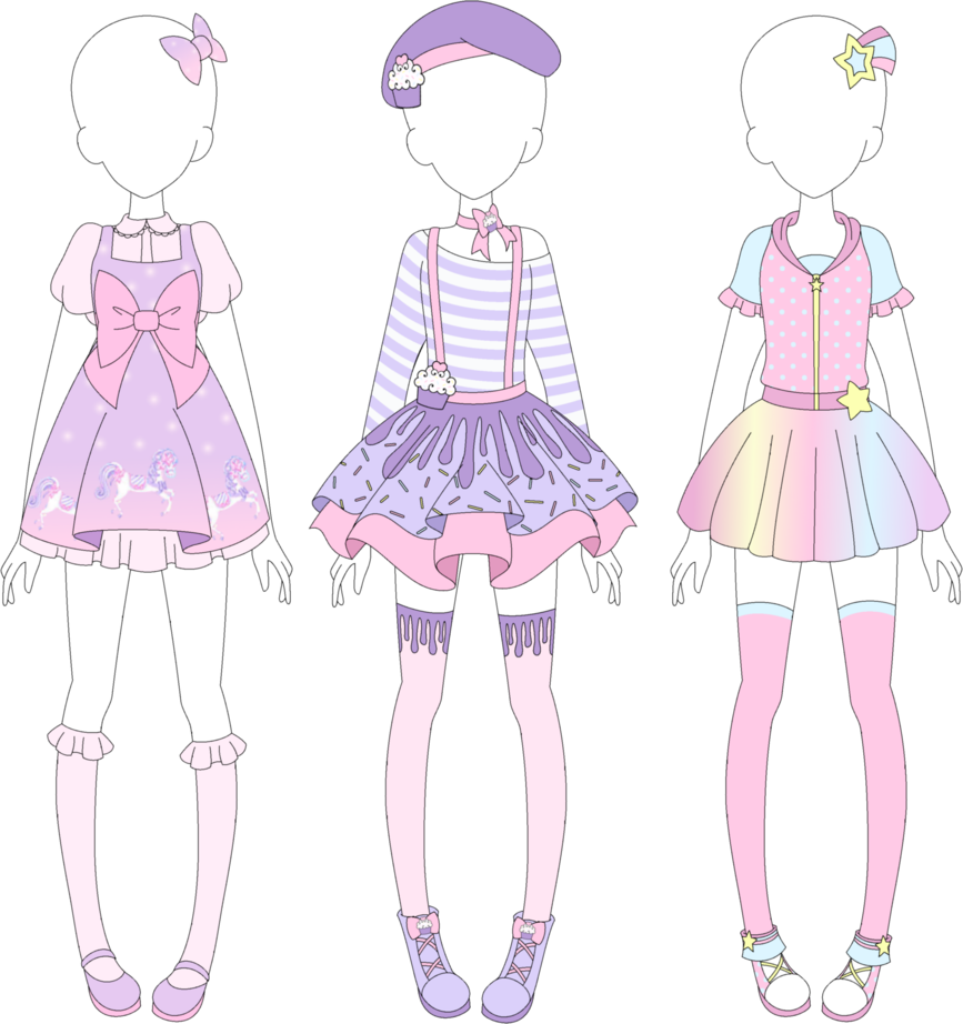 Fairy Kei Designs 1 by VanillaChama on DeviantArt I'ma