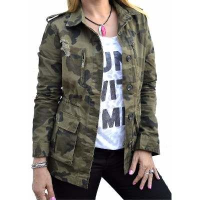 b6d56ca045ef1 Campera De Gabardina Camuflada Militar Mujer -   890