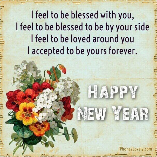 cute new year love quote wishes pic