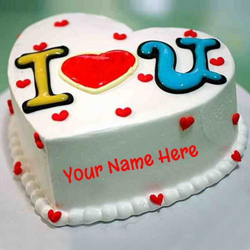 Generate Name On Love Birthday Cake Online Free