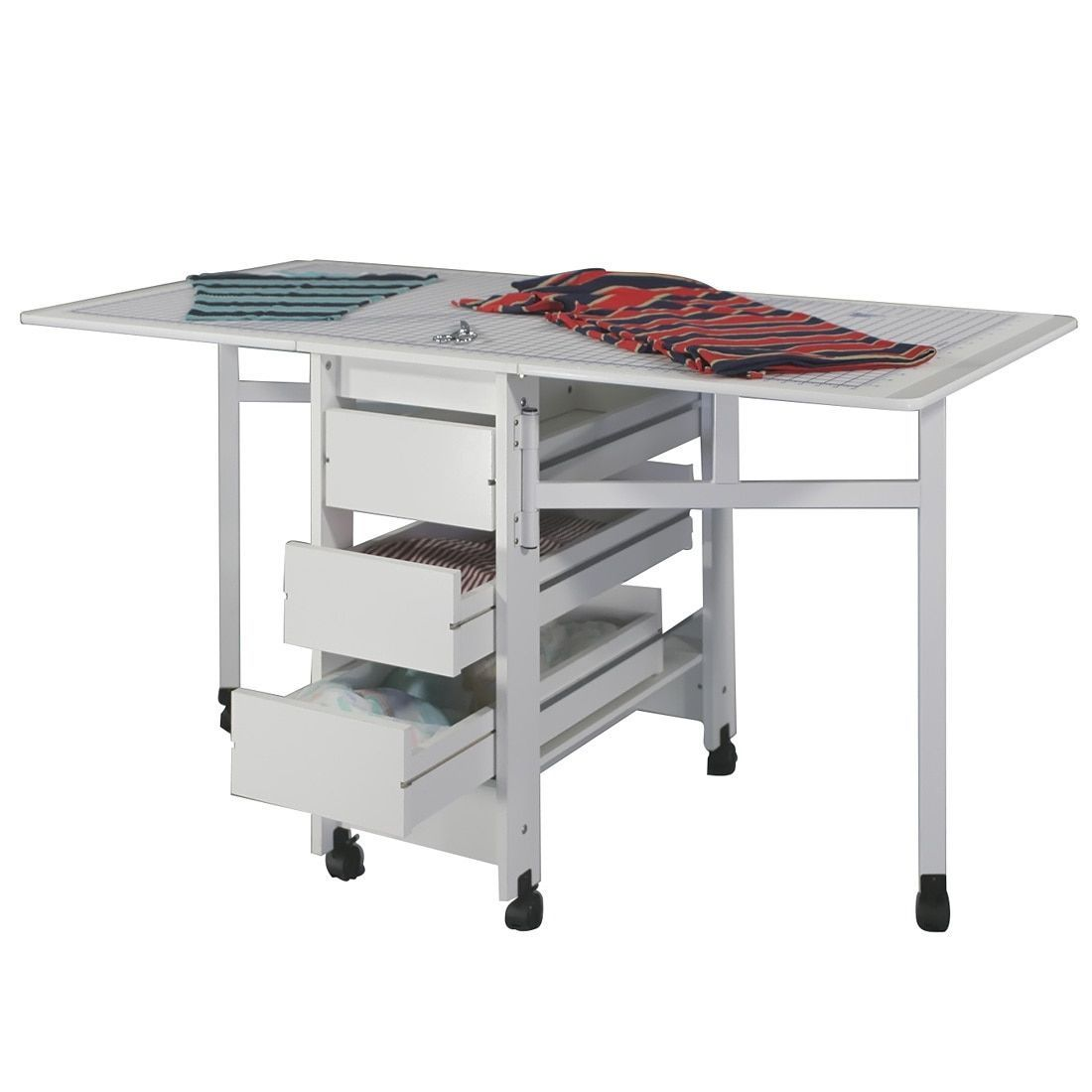 This Fold Out Cutting And Craft Table Provides 6 Feet Of Work Space When  Open, Yet Takes Up Less Than Two Feet Of Floor Space When Closed.