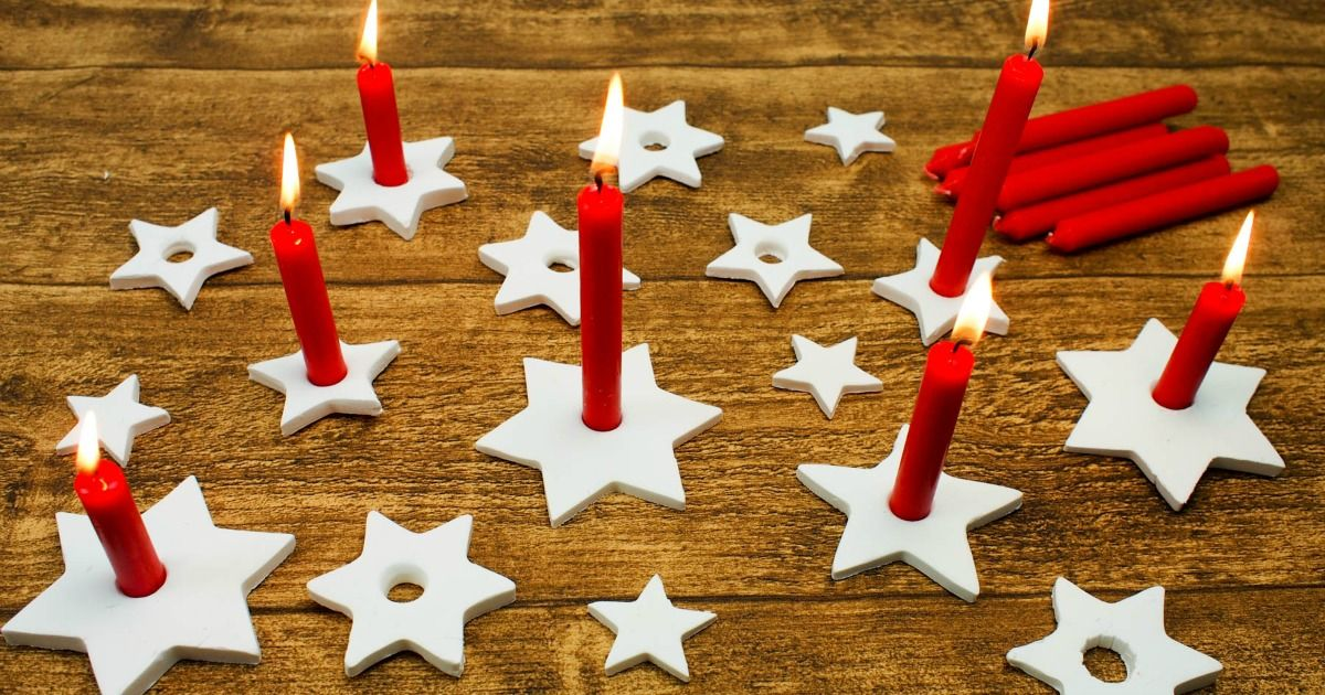 DIY Clay Star Candle Holders - Mum In The Madhouse