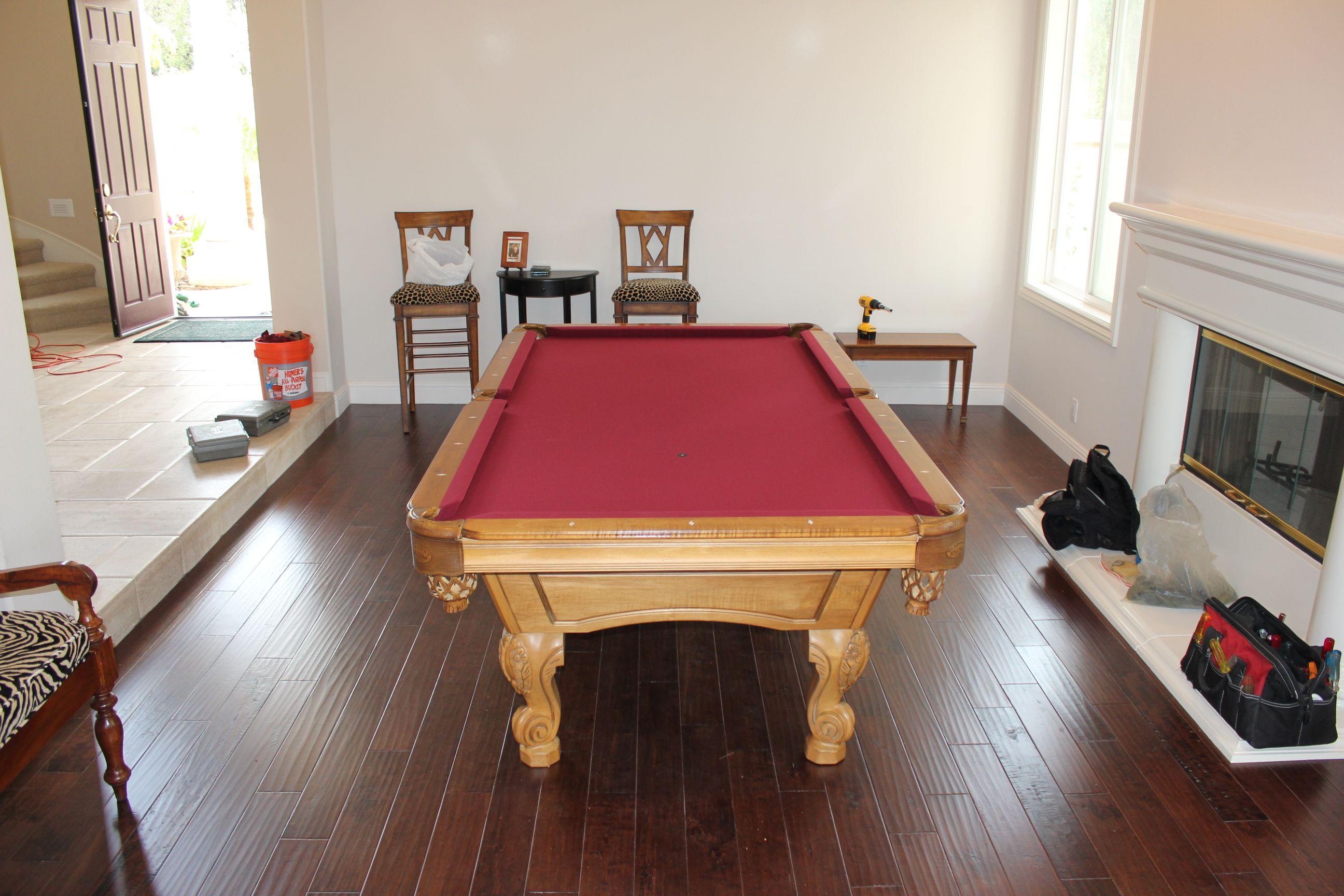 Olhausen Pool Table Refelting Olhausen pool table