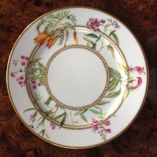Alberto Pinto Limoges Salad Dessert Plate Botanique List $235 | eBay