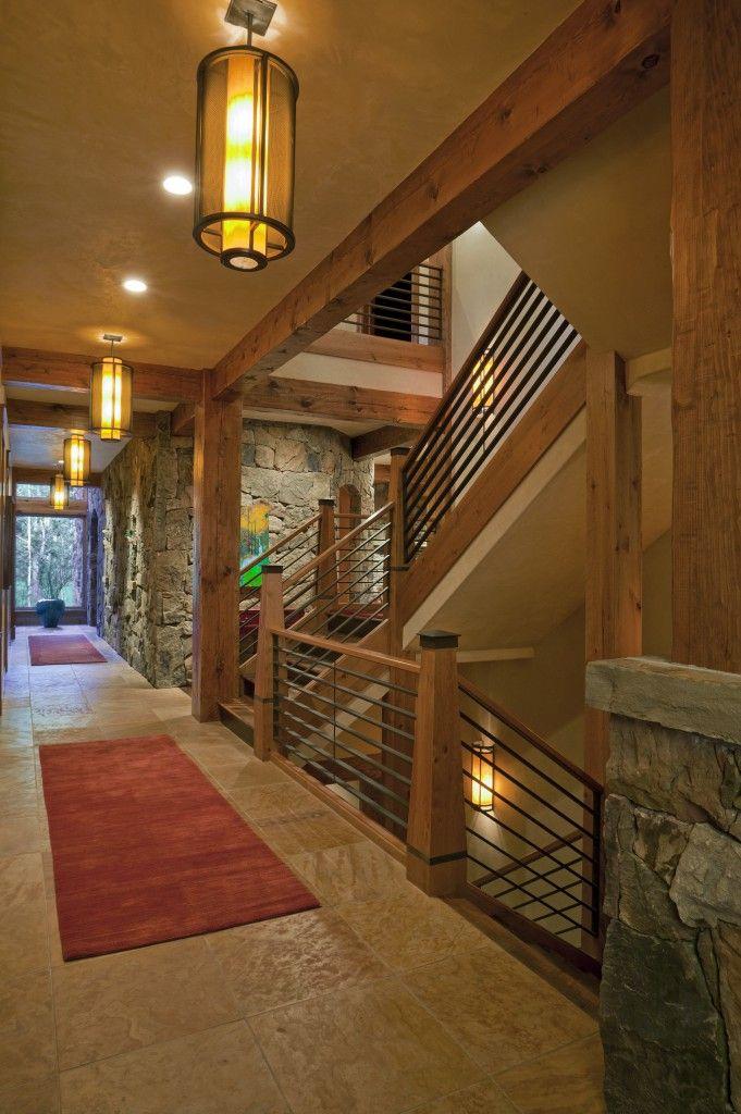 Best Rustic Modern Hallway Rails Rustic Contemporary 640 x 480