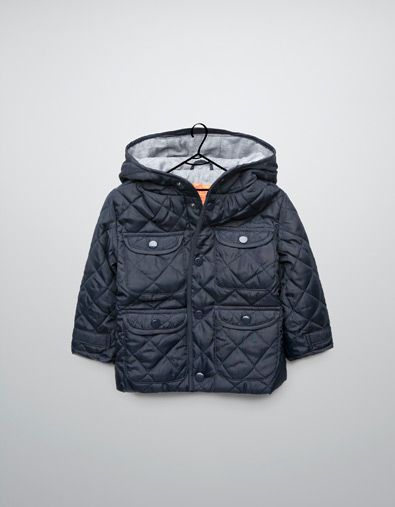 quilted jacket with hood - Coats - Baby boy (3-36 months ...