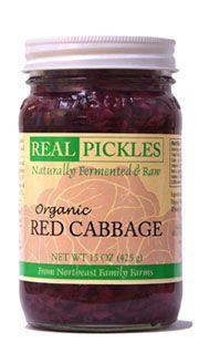 Red sauerkraut, brine-fermented
