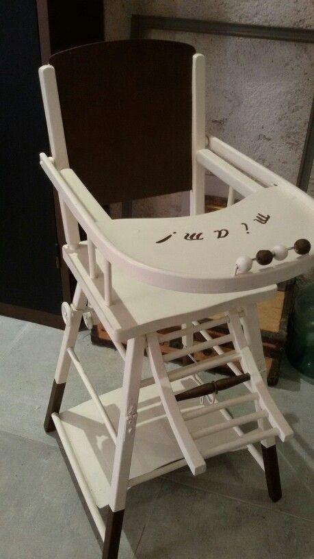 Ancienne Chaise Haute En Bois Relooke Chaise Haute Bois Chaise Enfant Chaise Haute