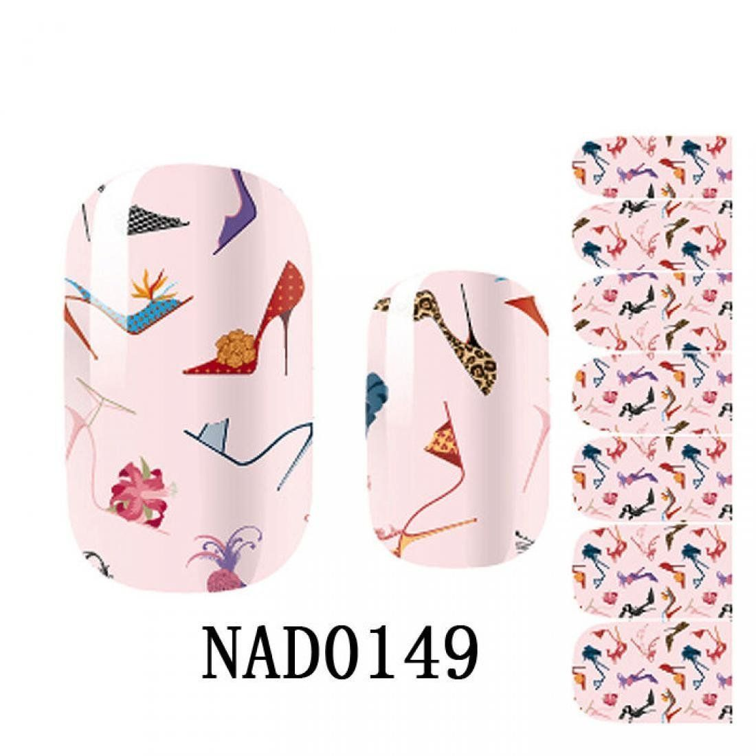 Magnificent Cute Wraps Decoration Foils Art Nail Stickers Type Code NAD0149 -- You can find out more details at the link of the image.