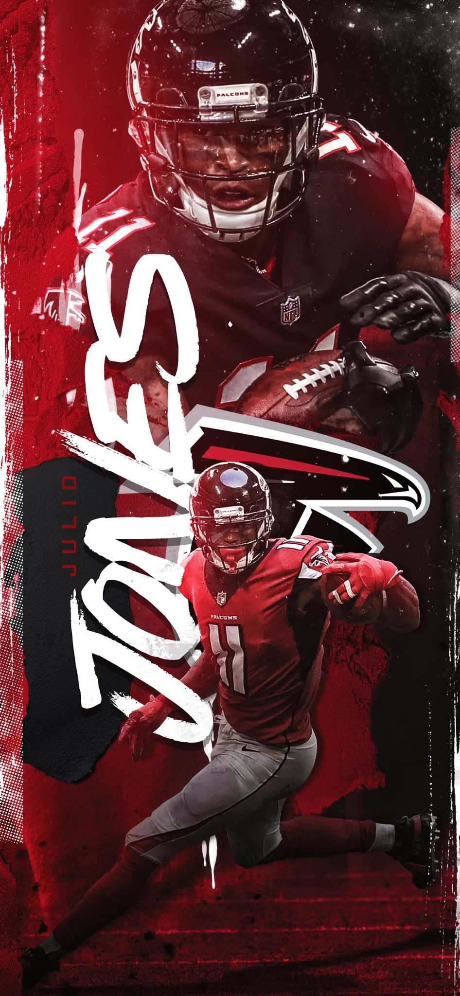 Pin By Robert On Sports Social Graphics Sports Design Inspiration Atlanta Falcons Football Atlanta Falcons Wallpaper