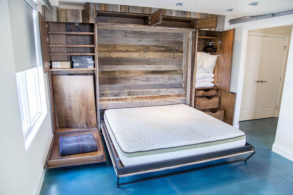 Between hide away murphy bed's for yourself + your dog
