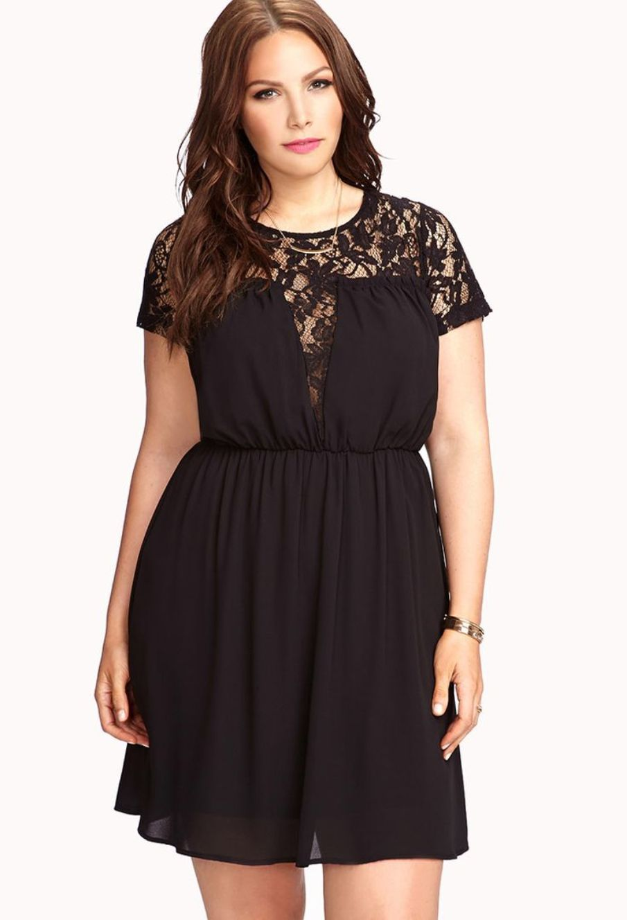 forever21 little black dress for plus size women lace style