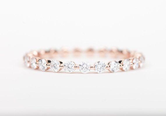 Diamond Wedding Band 14K Rose Gold.  Inspired By You, Created By Us. #BlackKeyDiamonds www.blackkeydiamonds.com