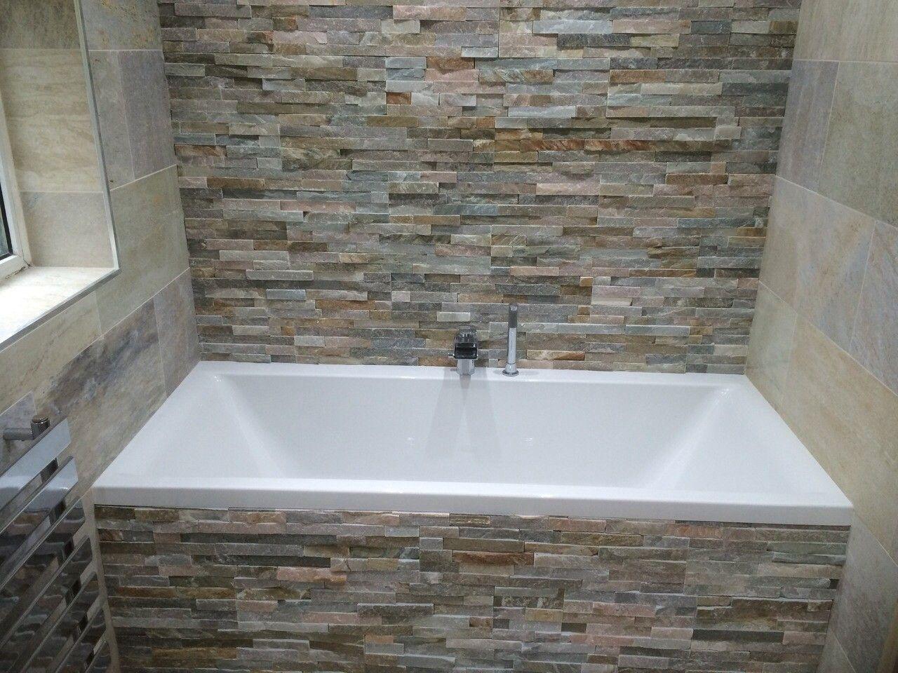 image result for bathrooms with split face slate tiles