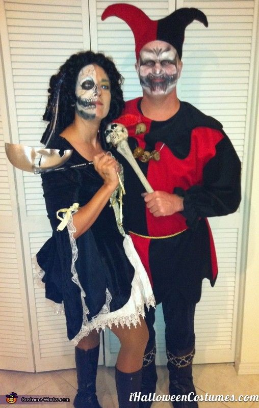 Evil Jester and Lady of Court Halloween Costume Ideas for Couples