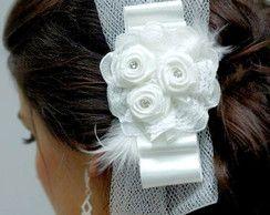 Laço para noivas com flores