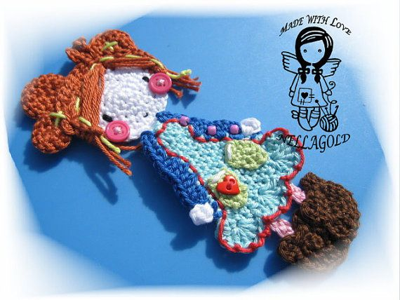 Crochet PATTERN, Applique Doll, DIY Pattern 11, Instant Download ...