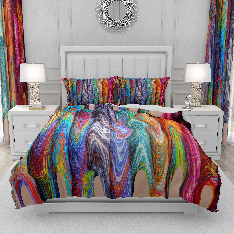Hippie Swirls Comforter Duvet Cover Pillow Shams Etsy In 2020 Bohemian Bedroom Decor Bedroom Decor Hippie Bedroom Decor
