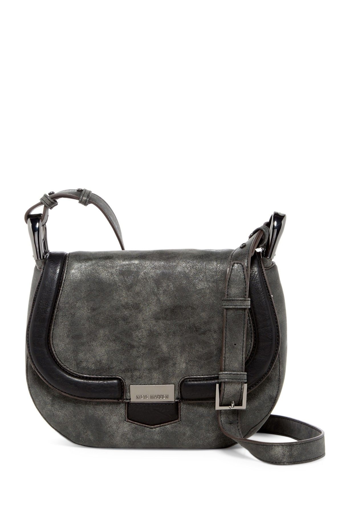 Pikee Faux Leather Saddle Bag  60fa77d7557dd