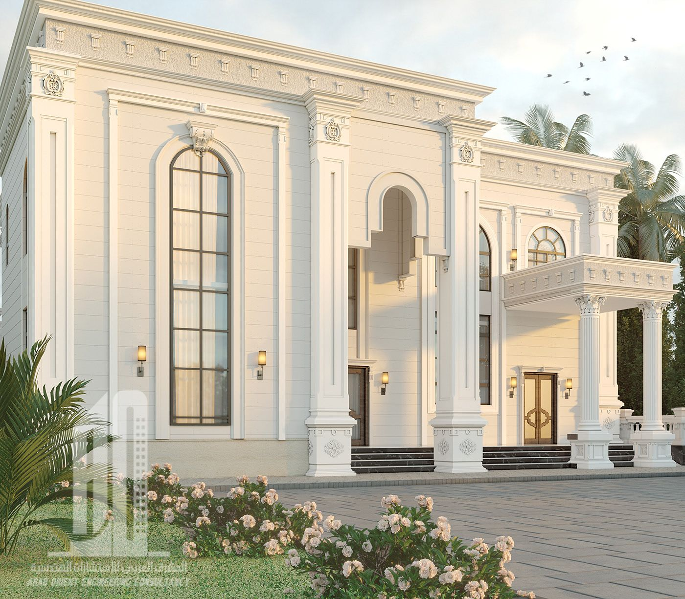 Classic Home Exterior Design: Villa In UAE On Behance In 2020