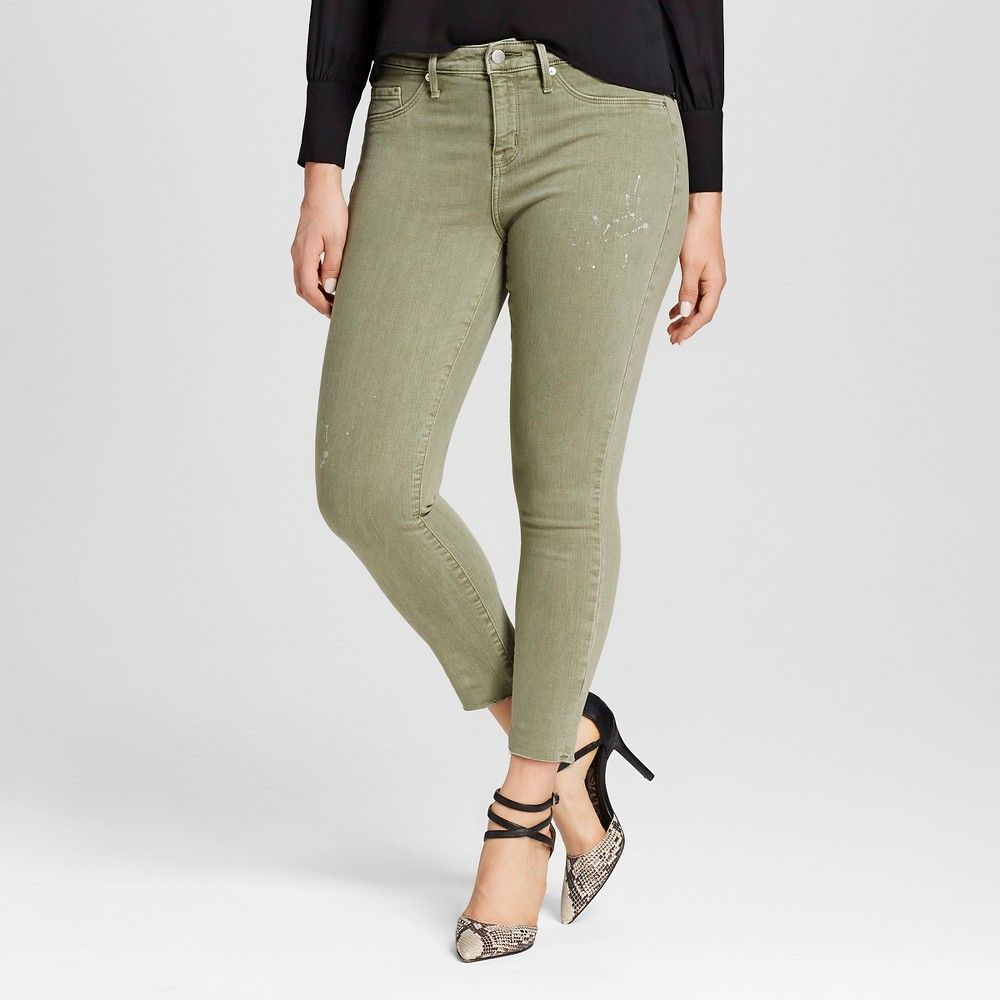 4fb4805a619398 Women's Curvy Jegging Crop - Mossimo Olive | Products | Green jeans ...