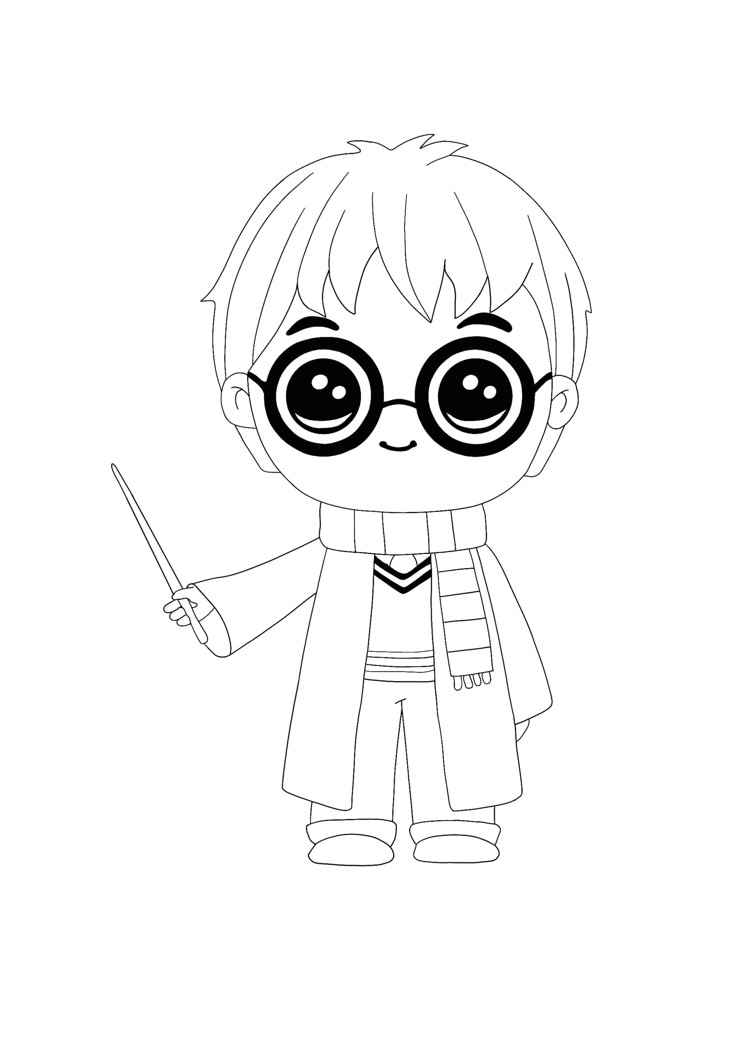 Kawaii Harry Potter Coloring Page Harry Potter Coloring Pages Harry Potter Printables Harry Potter Colors